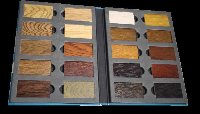 Образцы материалов для акустических шкатулок